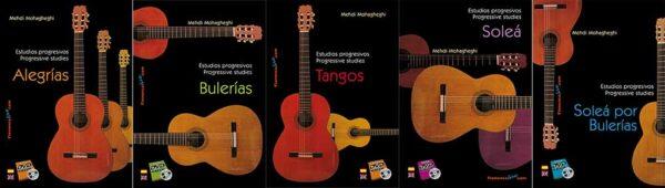 Estudios progresivos para Guitarra Flamenca. Coleeción 5 Vídoes/Libros